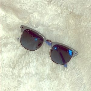 Ray-Ban Clubmaster Unisex blue tint sunglasses!
